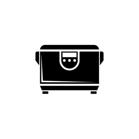 Multicooker, Kitchen Multi Cooker Machine. Flat Vector Icon illustration. Simple black symbol on white background. Multicooker, Kitchen Multi Cooker sign design template for web and mobile UI element Reklamní fotografie - 158519174