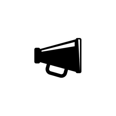 Megaphone, Announcement Loudspeaker. Flat Vector Icon illustration. Simple black symbol on white background. Megaphone, Announcement Loudspeaker sign design template for web and mobile UI element