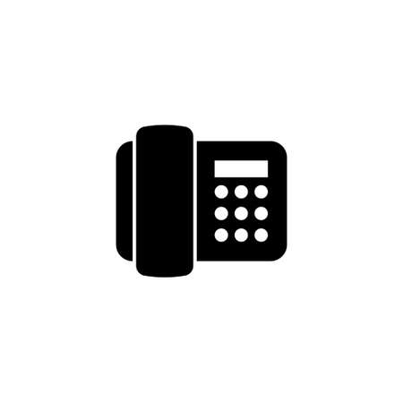 Electronic Telephone, Phone Fax Machine. Flat Vector Icon illustration. Simple black symbol on white background. Digital Telephone, Phone Fax Machinesign design template for web and mobile UI element