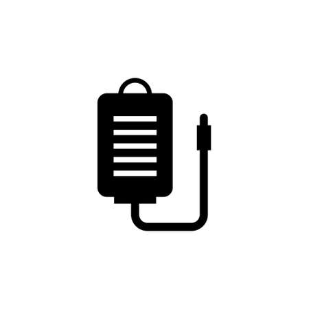 Transfusion Blood Bag, Infusion Drip. Flat Vector Icon illustration. Simple black symbol on white background. Transfusion Blood, Intravenous Therapy sign design template for web and mobile UI element Reklamní fotografie - 160507322