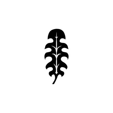 Monstera Palm Tree Leaf, Tropical Plant. Flat Vector Icon illustration. Simple black symbol on white background. Monstera Palm Leaf, Tropical Plant sign design template for web and mobile UI element