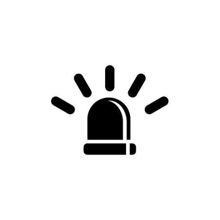 Emergency Siren, Police Alarm, Medical Alert. Flat Vector Icon illustration. Simple black symbol on white background. Emergency Siren, Alarm, Alert sign design template for web and mobile UI element Reklamní fotografie - 166264038