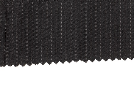 Charcoal wool fabric with pinstripes Фото со стока - 11323594