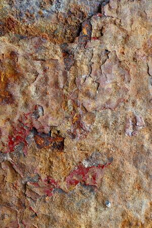 oxidado: Superficie de metal oxidado
