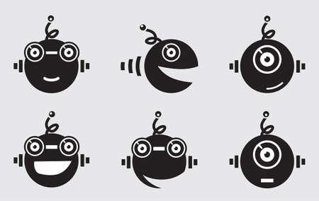 robot mascot vector Vector