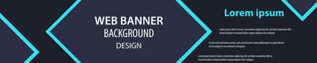 Minimalist banner design. Web banner. Billboard banner. Eps10 vector Ilustracja