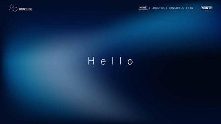 Minimalist landing page background. Website UI design background. Eps 10 vector
