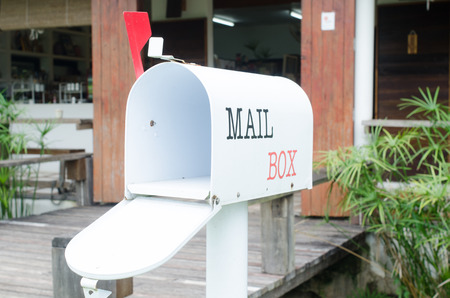 metal mailbox: mail box on the shop Stock Photo