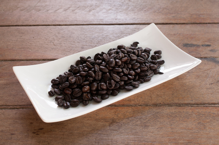 african coffee: Coffee on grunge wooden background