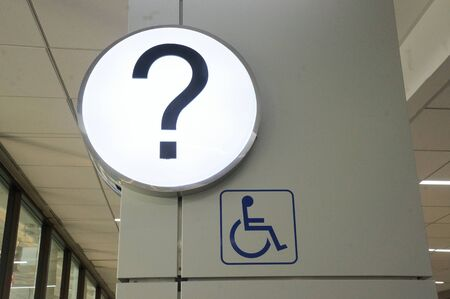 paralyze: Wheelchair Handicap Sign Stock Photo