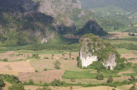 mountaintop: Mountain view landscape in north Thailand. ( Phayao )