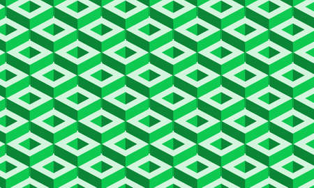 3D vector geometric green and white background for design your web poster, banner, landing page, background, template, etc. Ilustração