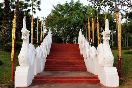 White Naga Serpent Staircase