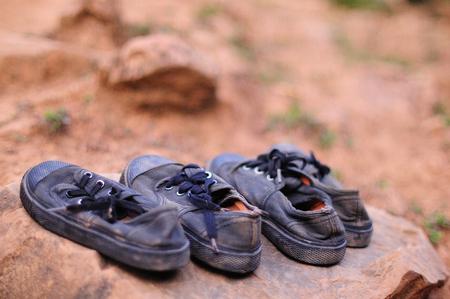 zapatos escolares: Viejo estudiante calzado