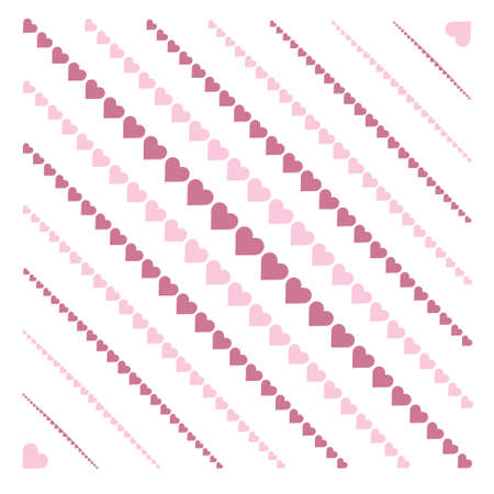 sloping: background with diagonal stripes hearts