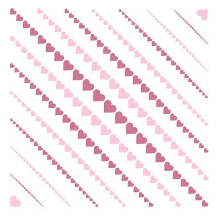 rayures diagonales: fond avec des rayures diagonales coeurs