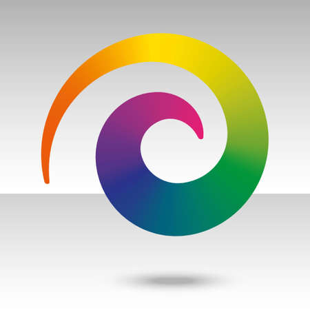 colorful spiral design element with rainbow gradient Vector