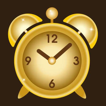 big timer: vintage gold alarm clock - time to wake up