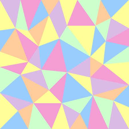 retro achtergrond met driehoekig patroon in pastel kleuren
