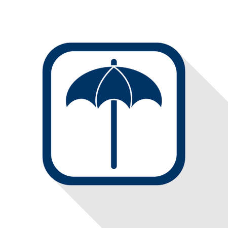 bask: square blue icon sunshade with long shadow