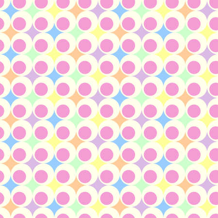 retro geometric ball background in pastel colors Vettoriali