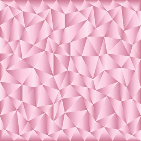 background with irregular tessellations pattern and plastic gradient - triangular design in sweet pink colors - satin ribbon