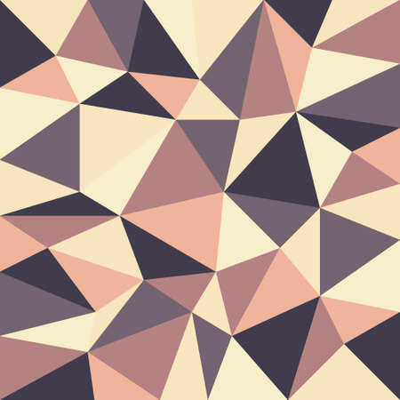 tessellated: background with irregular tessellations pattern - triangular design in retro colors Illustration