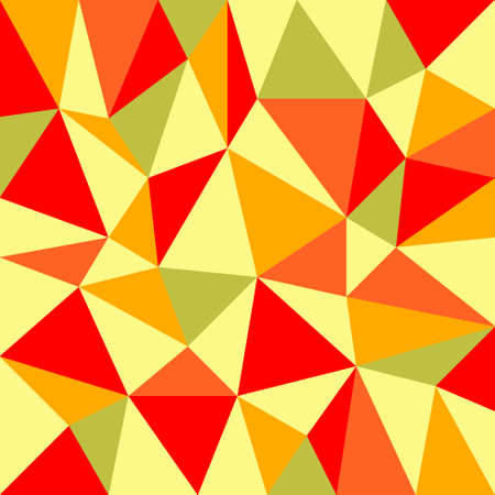 tessellated: background with irregular tessellations pattern - triangular design in retro autumn colors