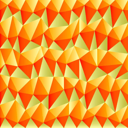 tessellated: background with irregular tessellations pattern and plastic gradient - triangular design in funny autumn colors