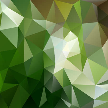 vector background with irregular tessellations pattern - triangular design in green forest colors