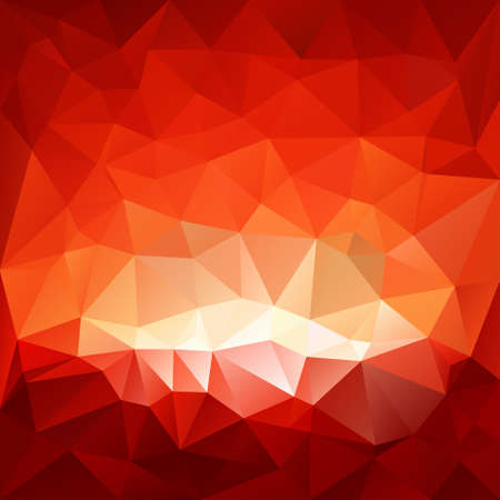 sunup: vector background with irregular tessellations pattern - triangular design in red glass hell colors