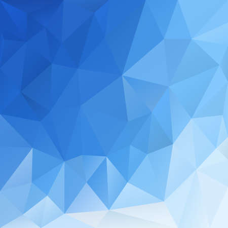 vector polygonal background with irregular tessellations pattern - triangular design in blue sky color - azure