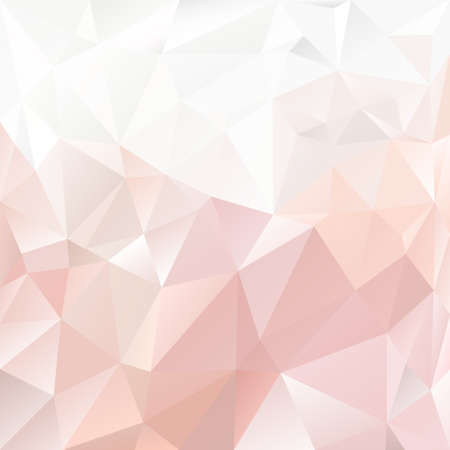 polygonal background with irregular tessellations pattern - triangular design pink colors - pastel Illustration