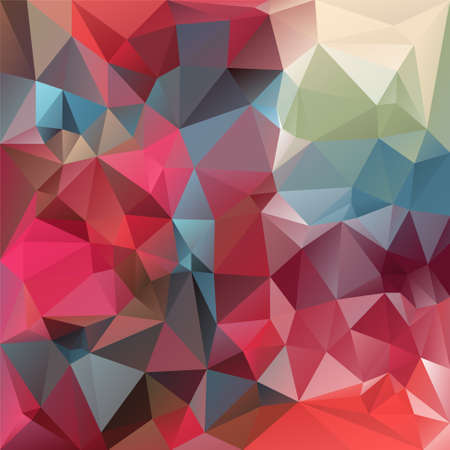 polygonal background with irregular tessellations pattern - triangular design in red and blue colors - strawberry