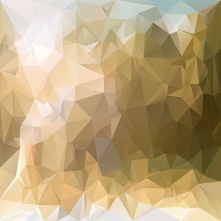 vector polygonal background with irregular tessellations pattern - triangular design in desert sand colors - beige and brown Stock Illustratie