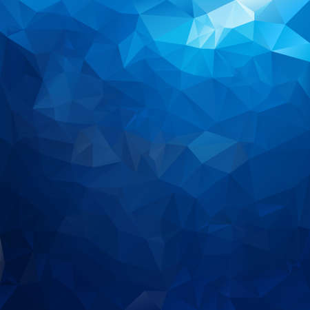 blue sea: vector polygonal background with irregular tessellations pattern - triangular design in sea water colors - blue Illustration