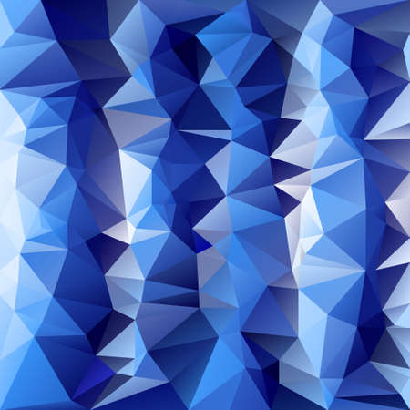 vector polygonal background with irregular tessellations pattern - triangular design in cold ice blue colors Illustration