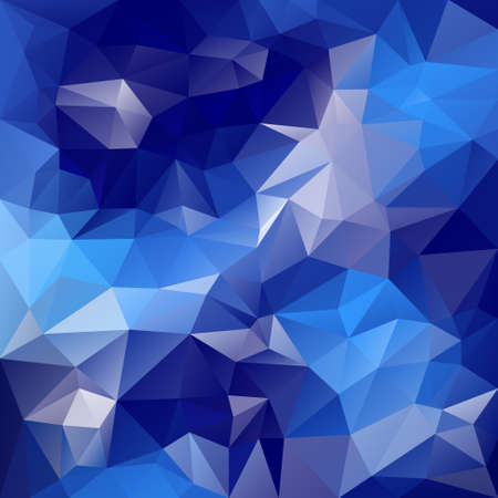 wintery: vector polygonal background with irregular tessellations pattern - triangular design in blue colors - water, ice, sky