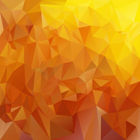 honey: vector polygonal background with irregular tessellations pattern - triangular design in honey colors - yellow and brown Illustration