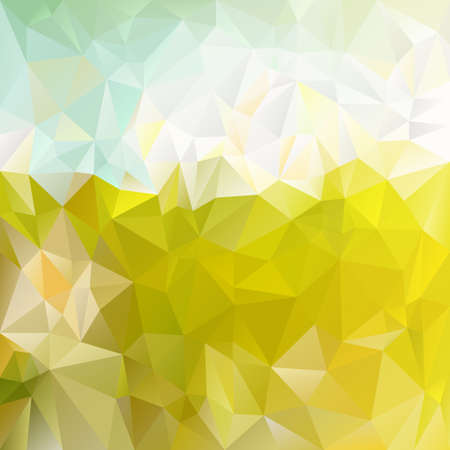paddock: vector polygonal background with irregular tessellations pattern - triangular design in spring colors - green sunny meadow