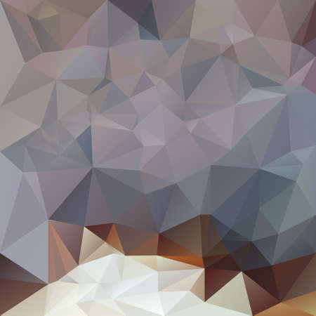 opal: vector polygonal background with irregular tessellations pattern - triangular design in opal colors - gray, brown, white Illustration
