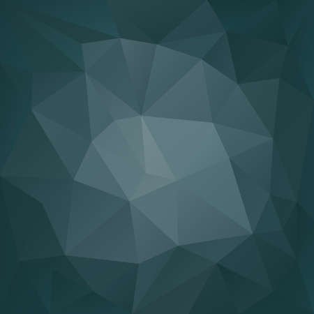 diamond shape: vector polygonal background with irregular tessellations pattern - triangular design in dark petrol colors - blue, gray
