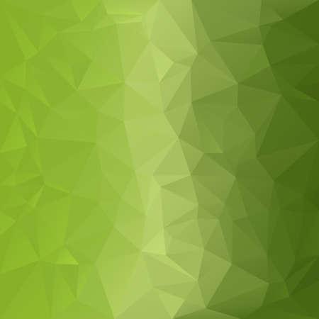 verdant: vector polygonal background with irregular tessellations pattern - triangular design in light green colors - greenery
