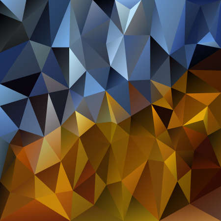gold brown: vector polygonal background with irregular tessellations pattern - triangular design in gold metal colors - yellow, brown, black