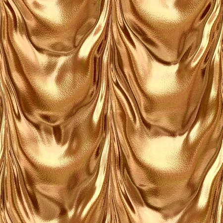 frilled: frilled gold drapery seamless pattern texture background with high gloss