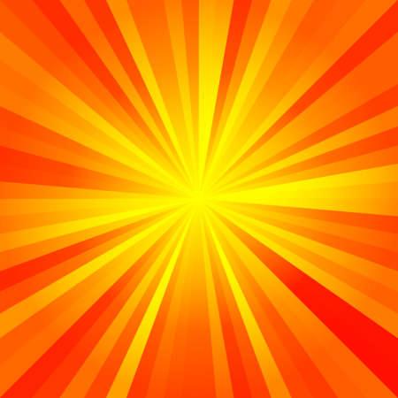 zonnige stralen patroon textuur achtergrond - rood, oranje, geel