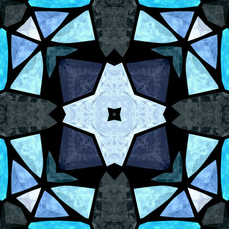 significantly: kaleidoscope mosaic floral blue seamless pattern texture background