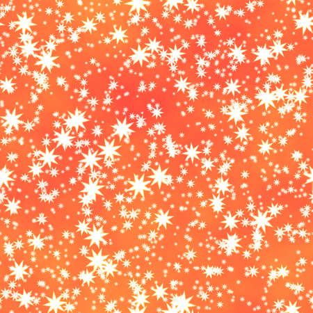 nightly: white stars irregularly placed  on orange backgroud - seamless pattern texture - sky