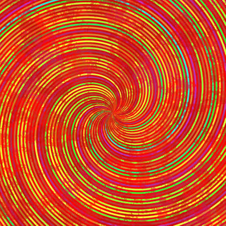 green swirl: red orange yellow green swirl spiral pattern texture background Stock Photo