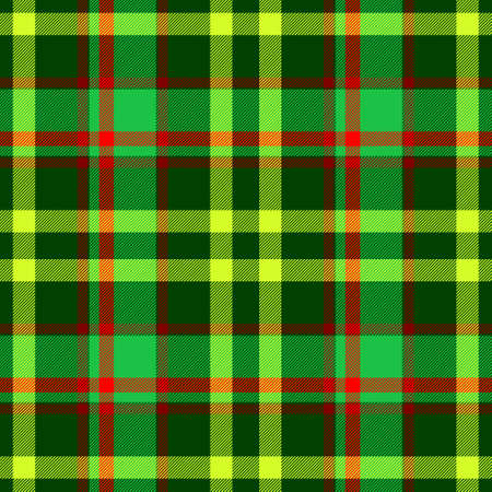 chequered drapery: green red yellow checkered tartan plaid seamless pattern texture background